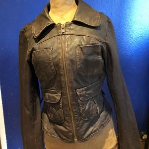 Vintage AE leather bomber jacket aviator cosplay